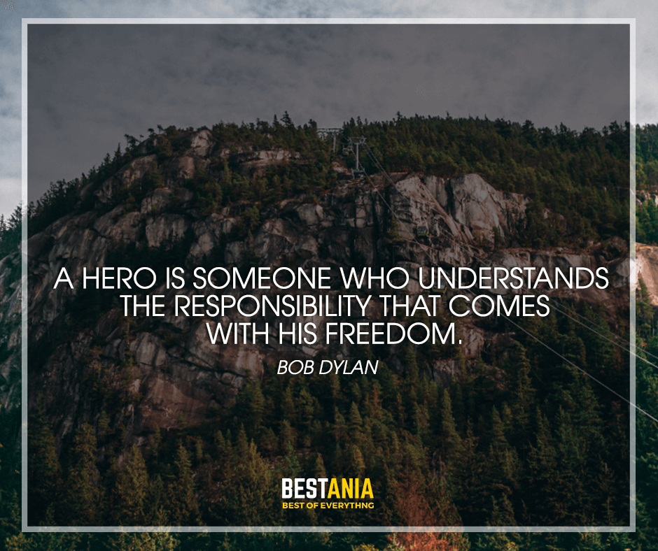 Quote about hero by dylan