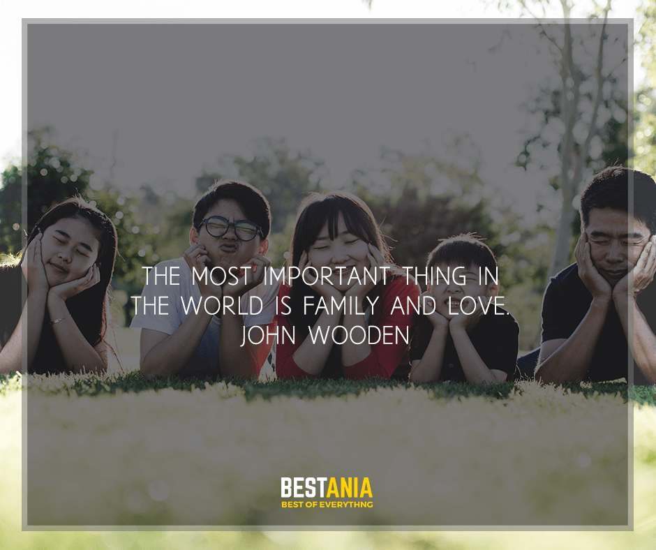 """""""The most important thing in the world is family and love"""" John Wooden"""
