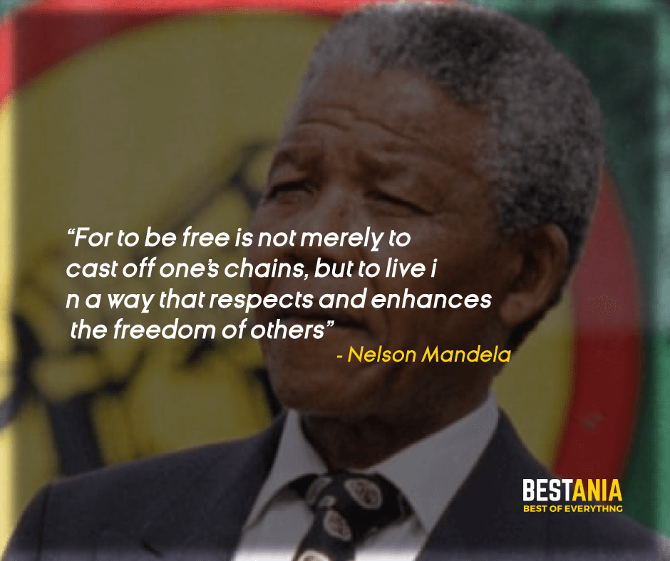 """""""FOR TO BE FREE IS NOT MERELY TO CAST OFF ONE'S CHAINS, BUT TO LIVE IN A WAY THAT RESPECTS AND ENHANCES THE FREEDOM OF OTHERS."""" NELSON MANDELA"""