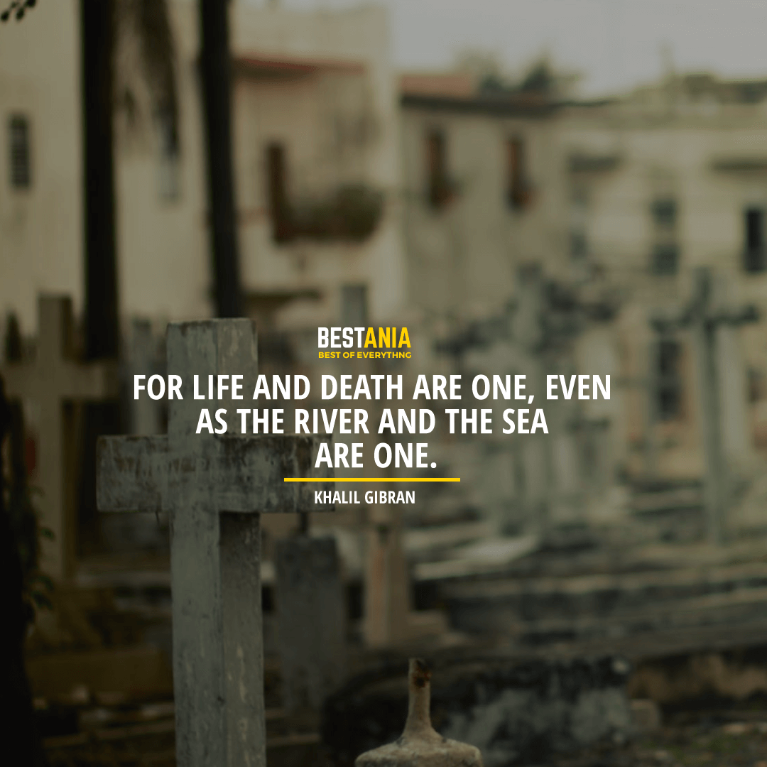 """""""FOR LIFE AND DEATH ARE ONE, EVEN AS THE RIVER AND THE SEA ARE ONE."""" KHALIL GIBRAN"""
