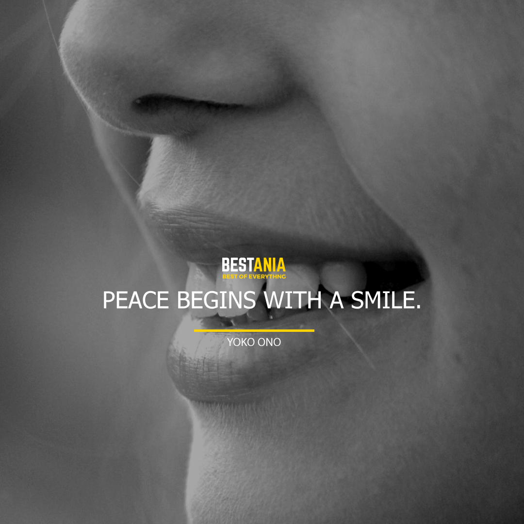 """PEACE BEGINS WITH A SMILE.""  MOTHER TERESA"