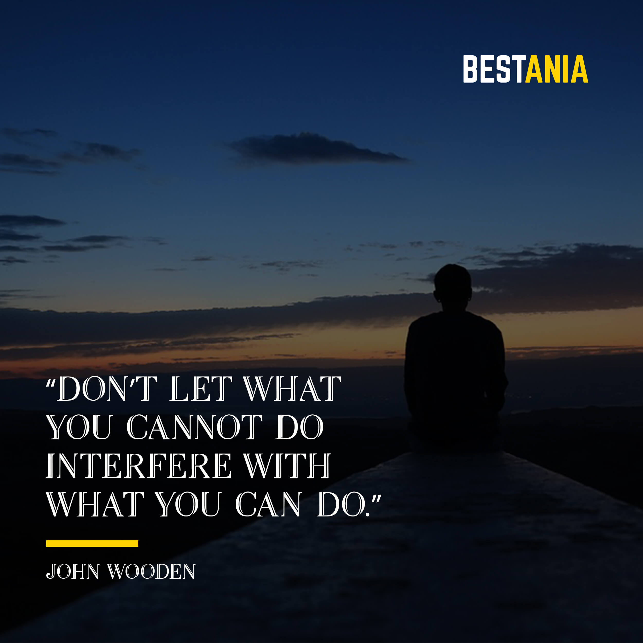 """Don't let what you cannot do interfere with what you can do."" – John Wooden"
