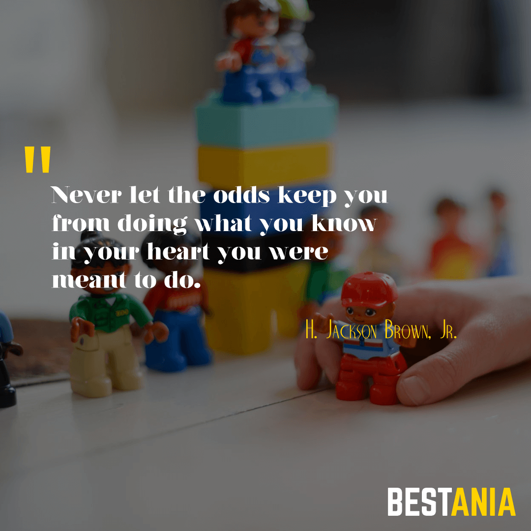 Never let the odds keep you from doing what you know in your heart you were meant to do. ~ H. Jackson Brown, Jr.