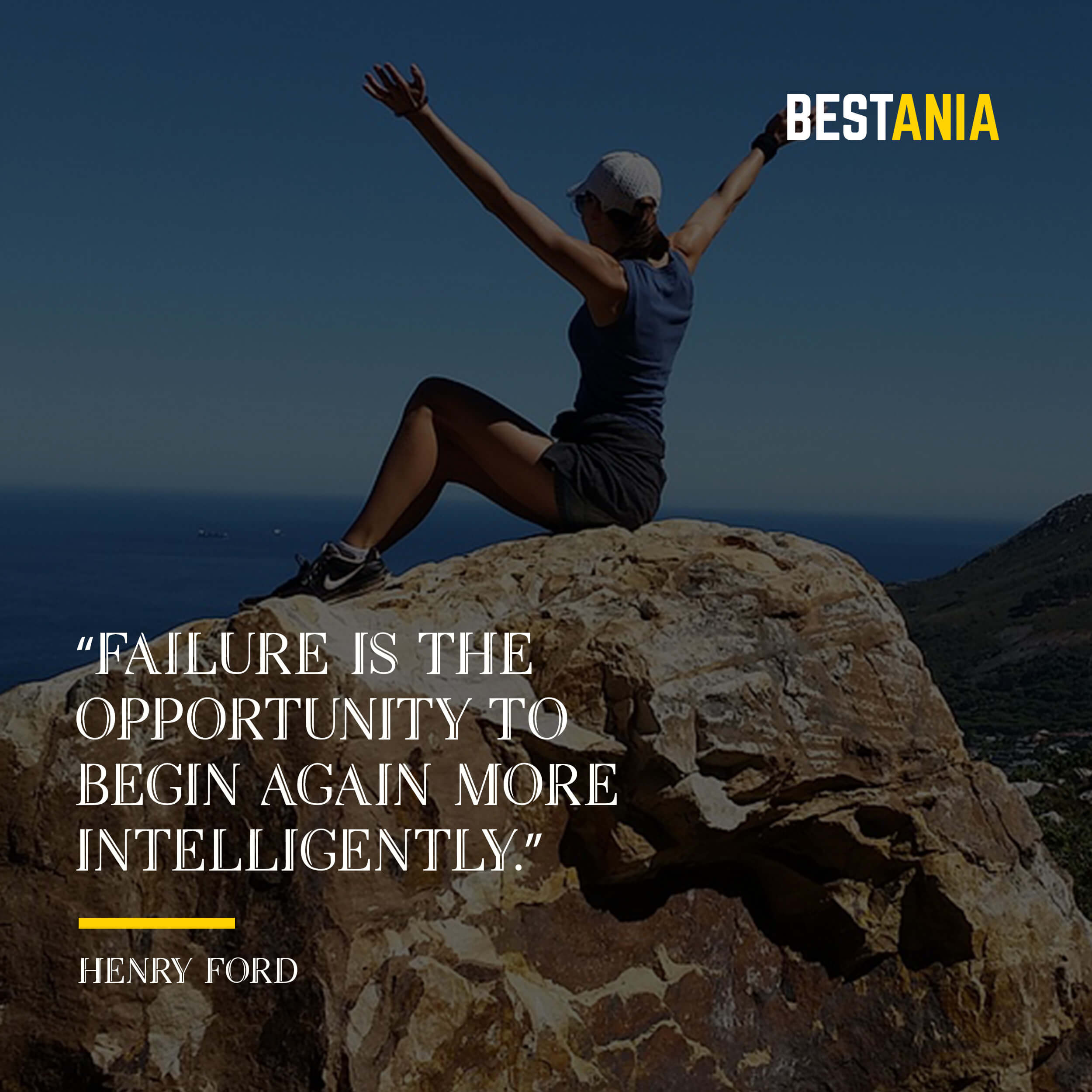 """""""Failure is the opportunity to begin again more intelligently."""" – Henry Ford"""