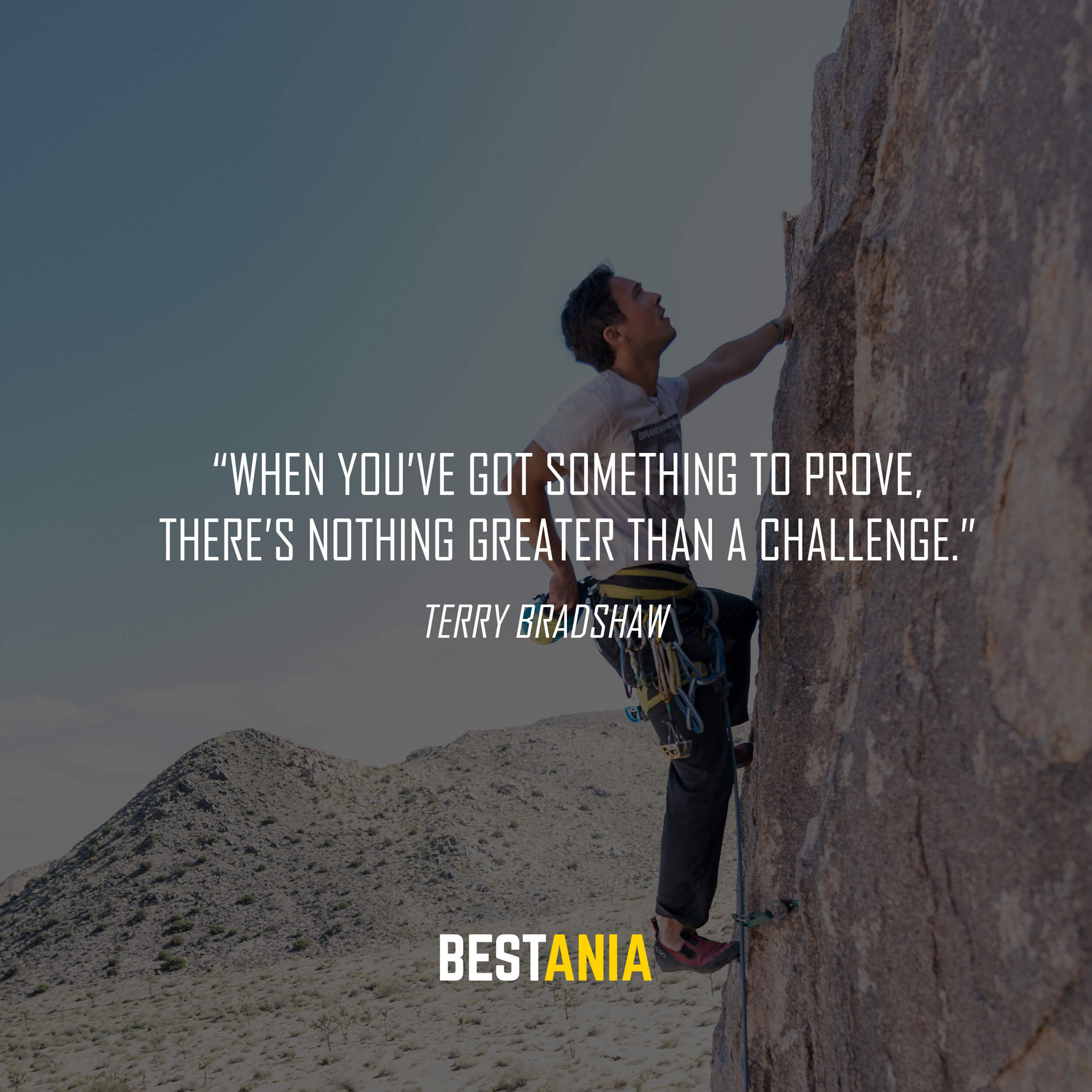 """""""When you've got something to prove, there's nothing greater than a challenge."""" – Terry Bradshaw"""