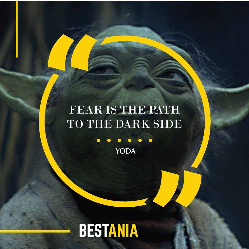 """FEAR IS THE PATH TO THE DARK SIDE."" – YODA"