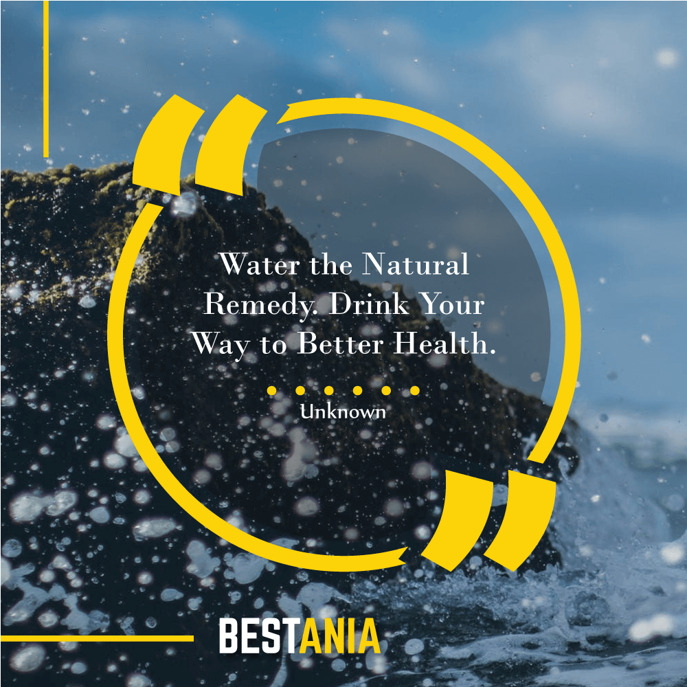 Water the Natural Remedy. Drink Your Way to Better Health.