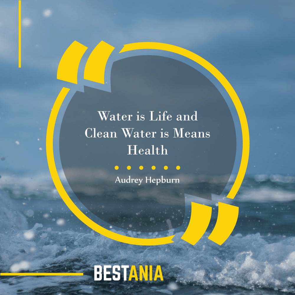 Water is Life and Clean Water is Means Health. – Audrey Hepburn